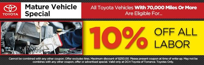 New Toyota Service Specials | Toyota Repairs near Carson, CA