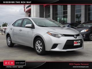 Used 2016 Toyota Corolla L Sedan Torrance, CA