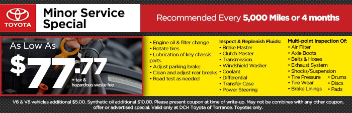 picture about Toyota Service Coupons Printable known as Refreshing Toyota Company Promotions Toyota Maintenance around Carson, CA