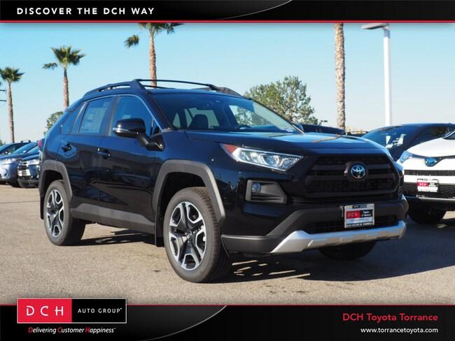 New 2019 Toyota Rav4 Adventure Suv Midnight Black For Sale In