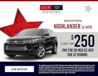 2019 Toyota Highlander LE - $250