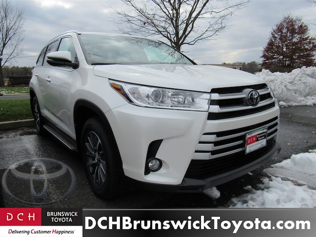 New 2019 Toyota Highlander Xle V6 Suv Blizzard Pearl For Sale In New