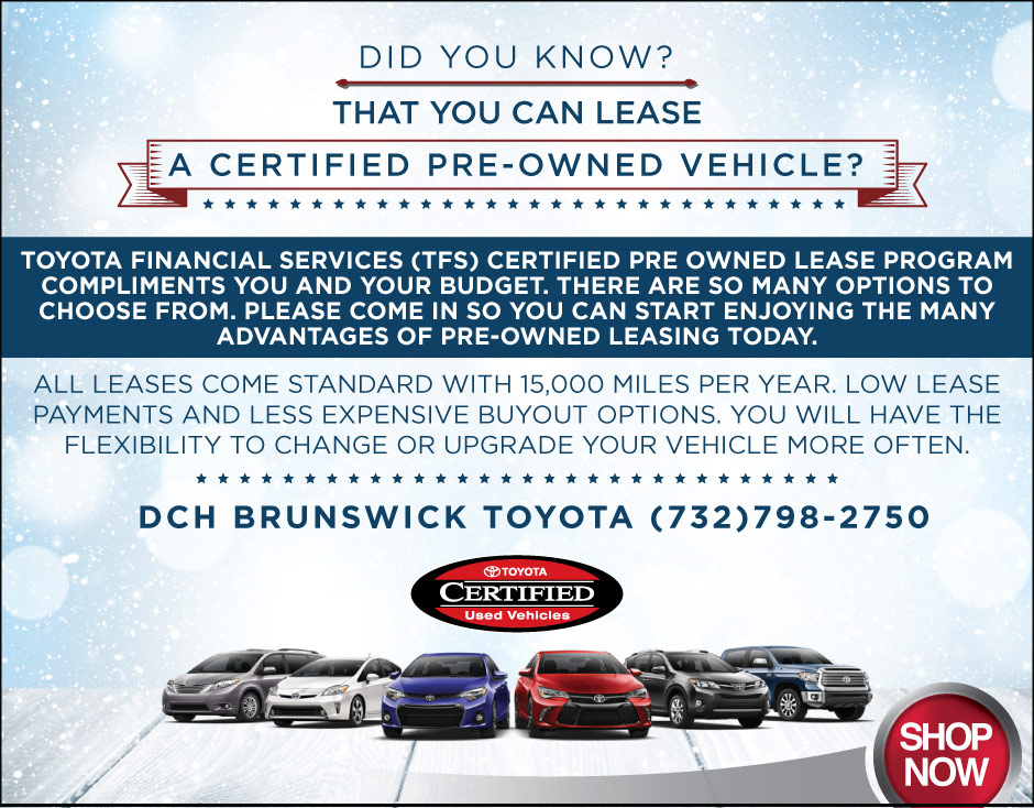Lease Certified Pre Owned >> Certified Pre Owned Toyota For Sale North Brunswick Township Nj