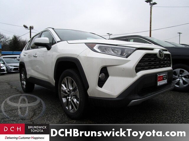 New 2019 Toyota Rav4 Suv Blizzard Pearl For Sale In North Brunswick