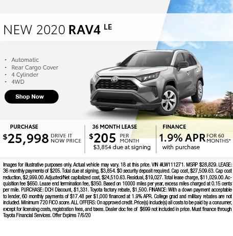 2020 RAV4 LE