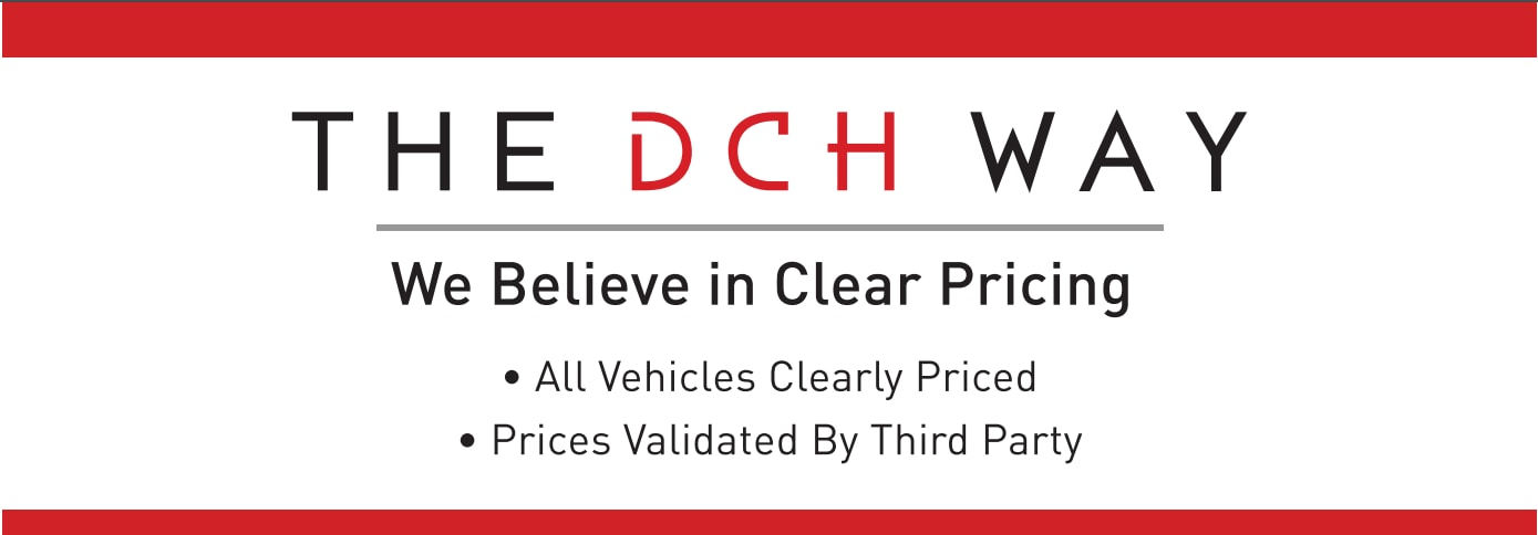 Clear Pricing on All Used Vehicles | DCH Used Car Difference