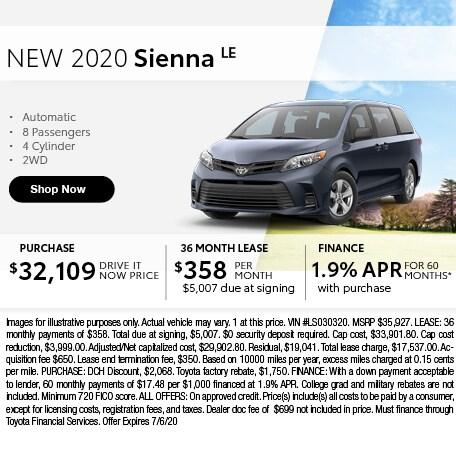 2020 Sienna LE