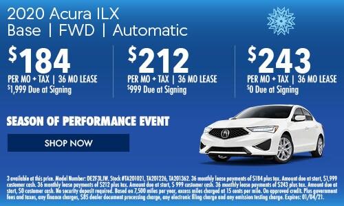 2020 Acura ILX  Base | FWD | Automatic