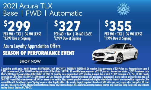 2021 Acura TLX Base | FWD | Automatic