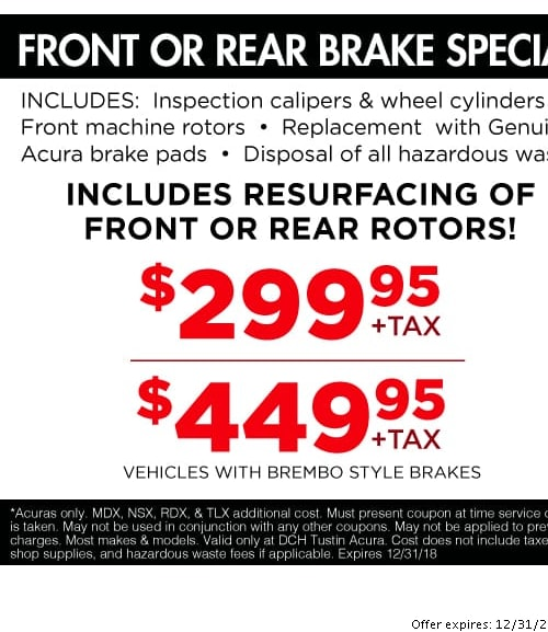 Acura Service Specials Orange County Oil Changes Tire Rotations - Acura coupons
