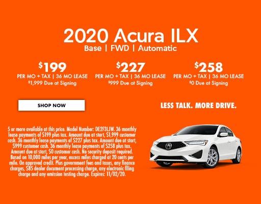 2020 Acura ILX  Base   FWD   Automatic