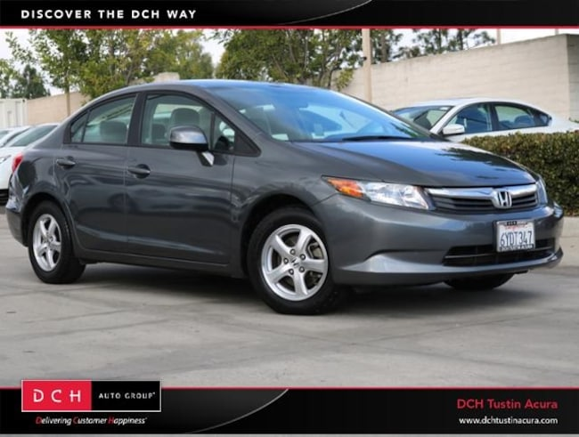 Used 2012 Honda Civic Natural Gas Sedan Tustin