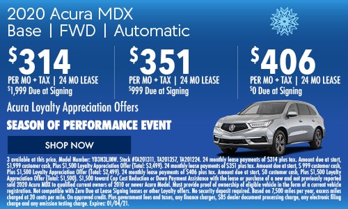 2020 Acura MDX Base FWD | Automatic