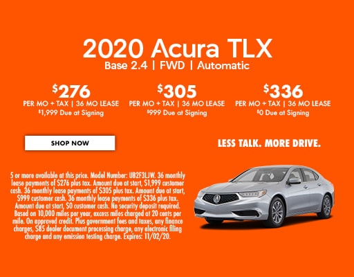 2020 Acura TLX  Base 2.4   FWD   Automatic