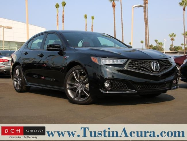 New 2019 Acura TLX 3.5 V-6 9-AT SH-AWD with A-SPEC RED Sedan Tustin