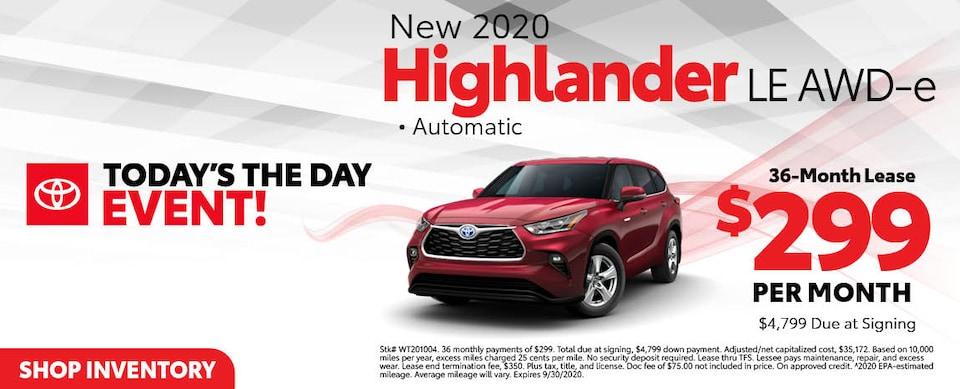 2020 Toyota Highlander LE AWD-e