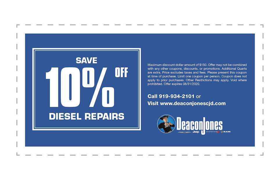Save 10% Off Diesel Repairs