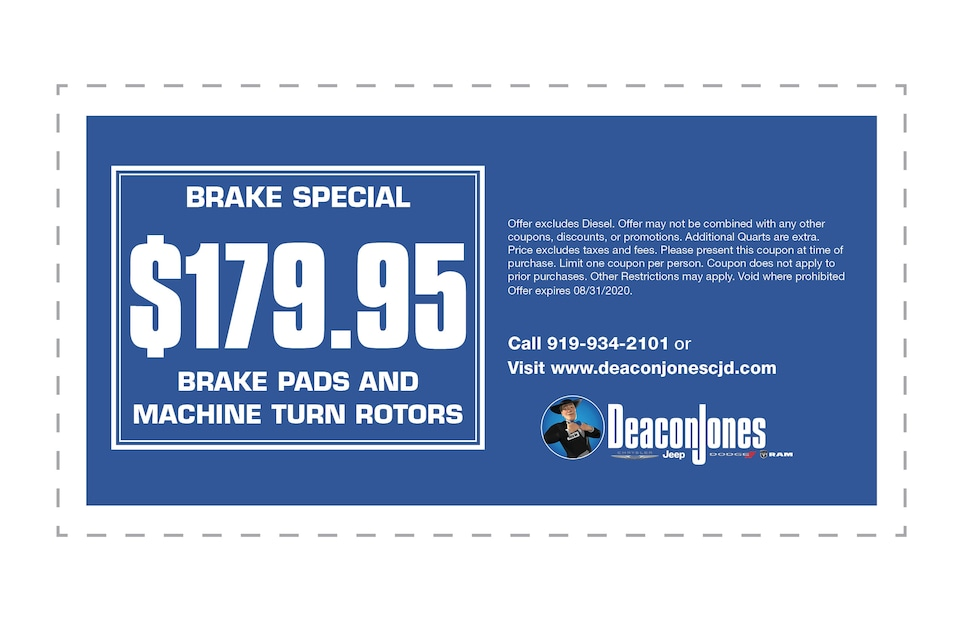 Brake Special   $179.95