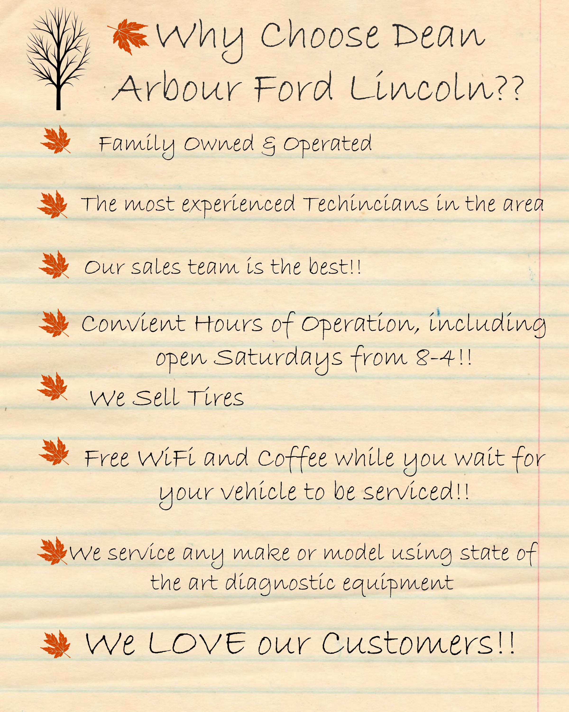 Dean Arbour Ford >> Why Choose Us Dean Arbour Ford Lincoln