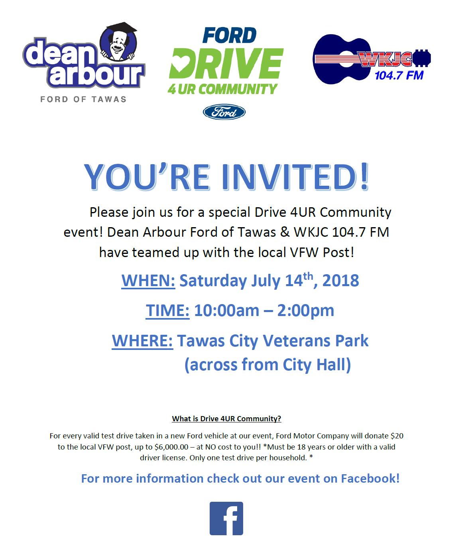 Dean Arbour Ford >> Drive 4ur Community Dean Arbour Ford Of Tawas Inc