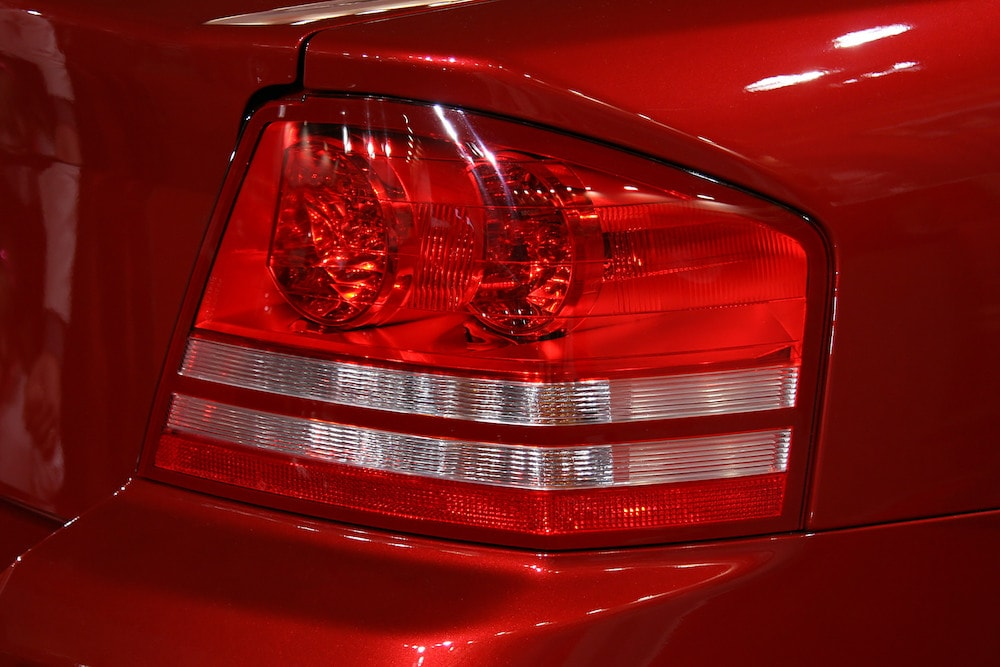 Brake Light on Red Car