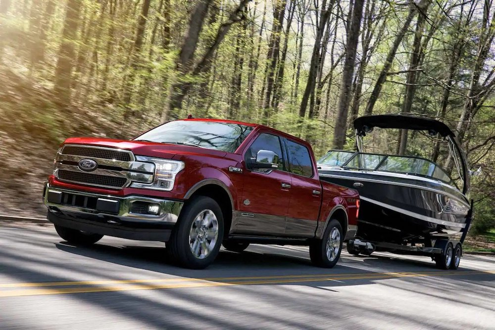 2019 Ford F-150 Towing a Boat