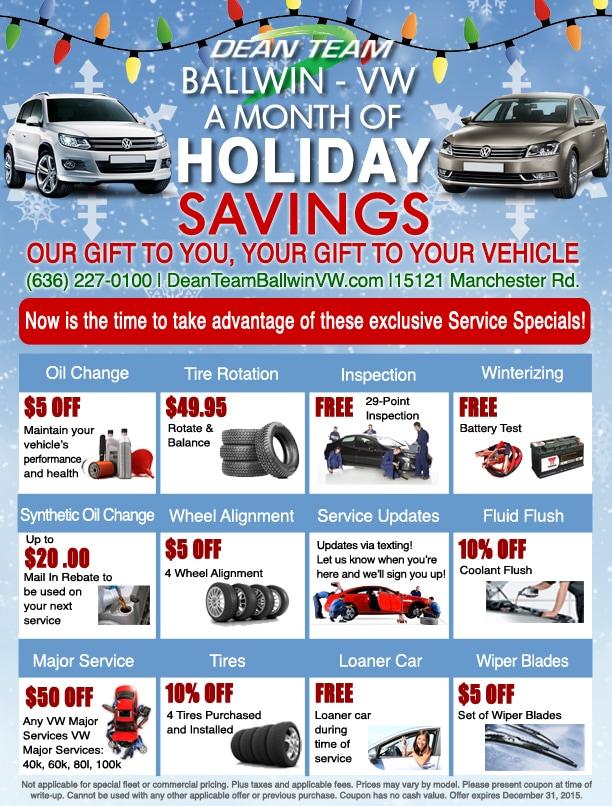 Volkswagen Service Specials | Dean Team Volkswagen of Ballwin in St