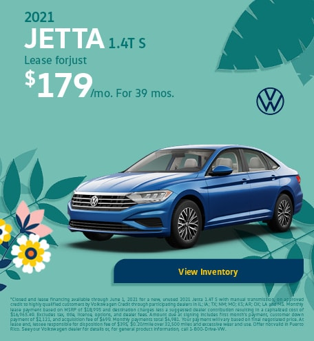 May 2021 Jetta 1.4T S Offer