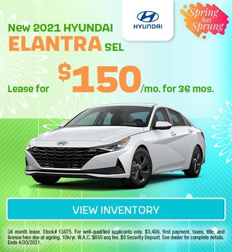 March New 2021 HYUNDAI ELANTRA SEL Offer