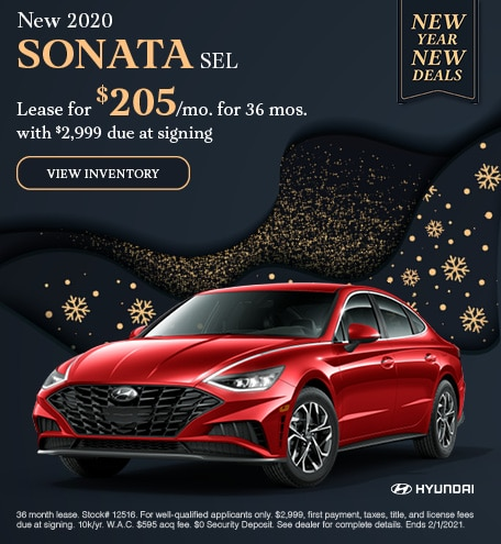 January New 2020 SONATA SEL Lease Offer