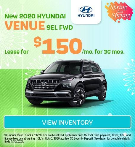 March New 2020 HYUNDAI VENUE SEL FWD Offer
