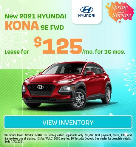 March New 2021 HYUNDAI KONA SE FWD Offer