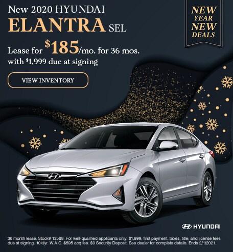 January New 2020 HYUNDAI ELANTRA SEL Lease Offer