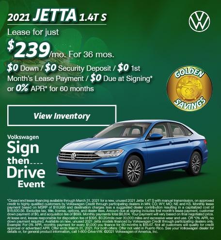 March 2021 Jetta 1.4T S Offer