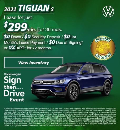 March 2021 Tiguan S Offer