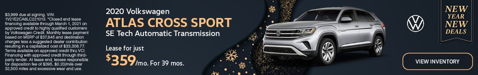 January 2020 Volkswagen ATLAS CROSS SPORT SE Tech Automatic Transmission