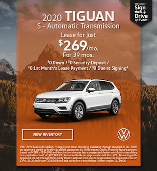 November 2020 TIGUAN S - Automatic Transmission Offer