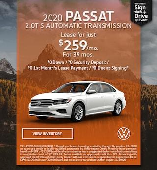November 2020 PASSAT 2.0T S AUTOMATIC TRANSMISSION Offer
