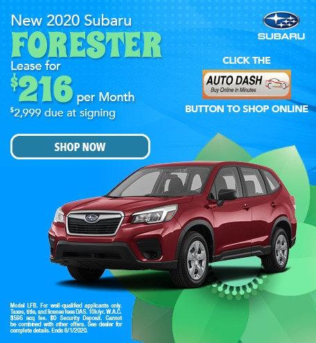 May New 2020 Subaru Forester Lease Offer