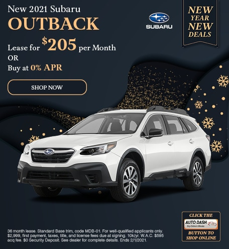 January New 2021 Subaru Outback Offer