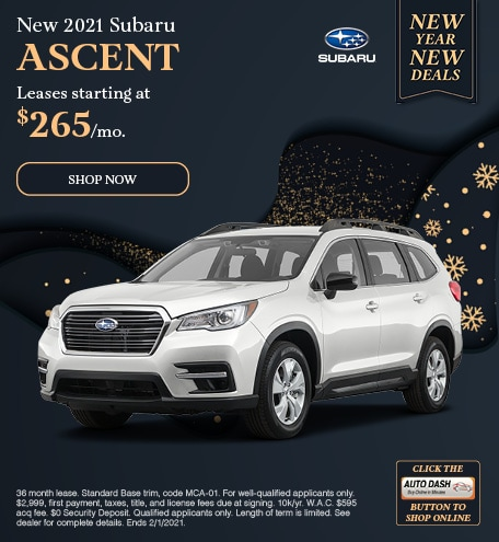 January New 2021 Subaru Ascent Offer