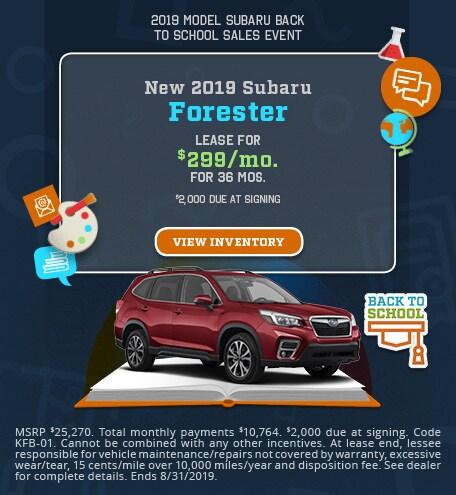 New 2019 Subaru Forester