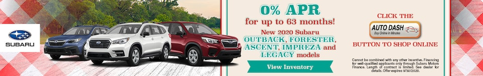 September 0% APR for up to 63 months!