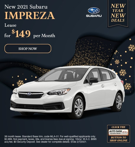January New 2021 Subaru Impreza Offer