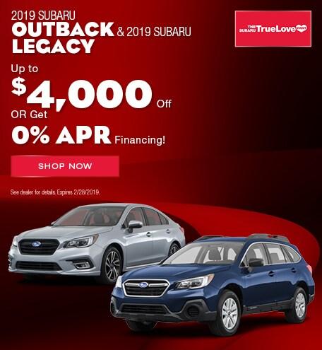 2019 Subaru Legacy & Outback