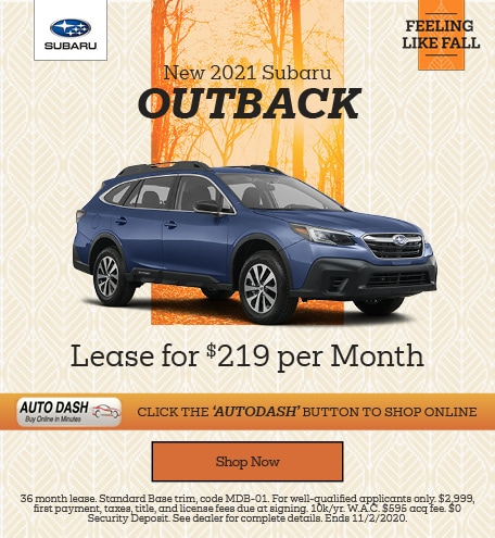 October New 2021 Subaru Outback Offer