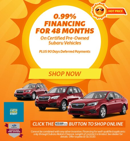 August 0.99% Financing for 48 months CPO Offer