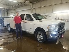 New Chrysler Dodge Jeep Ram models 2019 Ram 3500 TRADESMAN CREW CAB CHASSIS 4X4 172.4 WB Crew Cab 3C7WRTCL9KG559104 for sale in Monroe, WI near Madison