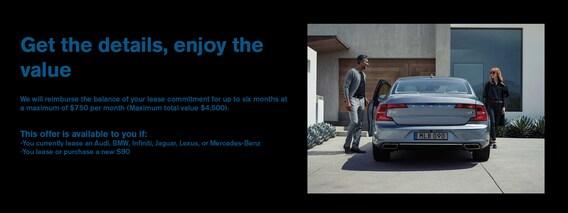 Volvo S90 Lease Pull ahead offer | Deel Volvo Cars