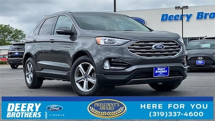 Featured used 2019 Ford Edge SEL SUV for sale in Iowa City, IA